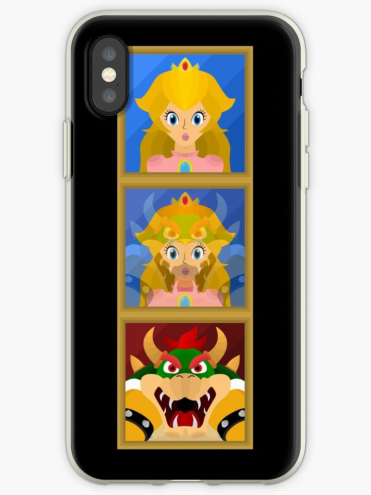 'Bowser to Peach, A Super Mario 64 Paintings' iPhone Case by bradbeideman