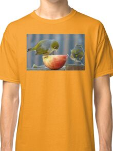 Holding the Apple Up! - Wax Eye NZ - Southland Classic T-Shirt
