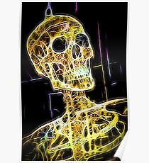 Skeleton yellow Poster
