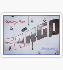 Fargo Postcard Sticker