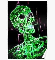 Skeleton green Poster