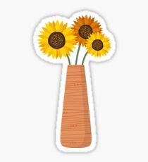 Sunflowers in a vase sticker Sticker