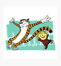 Calvin and Hobbes Dancing Photographic Print