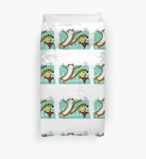 Calvin and Hobbes Dancing Duvet Cover
