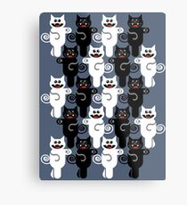 MARCHING CATS Metal Print