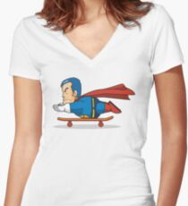 Suppaman Women's Fitted V-Neck T-Shirt