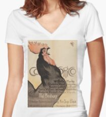 Theophile Alexandre Steinlen - Cocorico Women's Fitted V-Neck T-Shirt