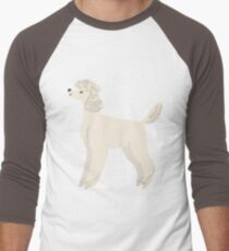 Poodle Men's Baseball ¾ T-Shirt