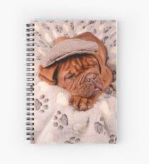 Sleepy Puppy Dogue Spiral Notebook