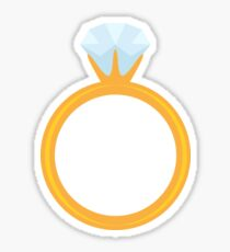 Diamond ring sticker Sticker