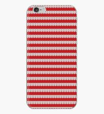 White & Red Knitted iPhone Case