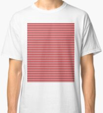 White & Red Knitted Classic T-Shirt