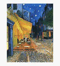 Vincent Van Gogh -Cafe Terrace at Night .Van Gogh -Cafe Terrace at Night Photographic Print