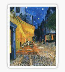 Vincent Van Gogh -Cafe Terrace at Night .Van Gogh -Cafe Terrace at Night Sticker