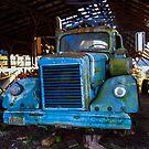 1968 White Diesel in Barn of Evanston Farm by Rusty Gentry