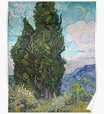 Vincent Van Gogh - Cypresses .  Van Gogh - Cypresses  Poster