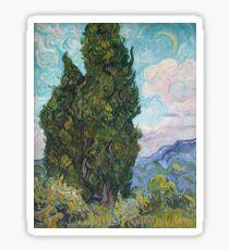 Vincent Van Gogh - Cypresses .  Van Gogh - Cypresses  Sticker