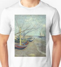 Vincent Van Gogh - Fishing Boats On The Beach At Les Saintes-Maries-De-La-Mer . Van Gogh - Seascape T-Shirt