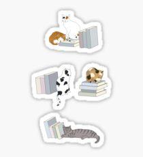 Pegatina Cats Love Books