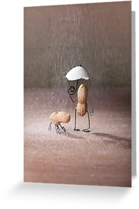 Simple Things Bad Weather Greeting Cards By Nailia Schwarz