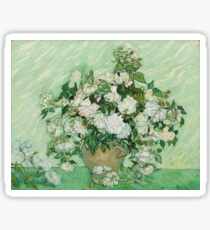 Vincent Van Gogh - Roses - Van Gogh - Roses  Sticker
