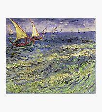 Vincent Van Gogh - Seascape At Saintes-Maries View Of Mediterranean .  Seascape. Van Gogh -Seascape Photographic Print