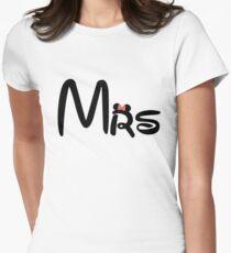 Honeymoon Mr and Mrs T-shirts Women's Fitted T-Shirt