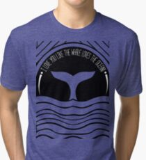 Whale at sunset Tri-blend T-Shirt