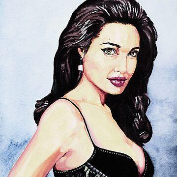 Angelina Jolie  by albandizdari