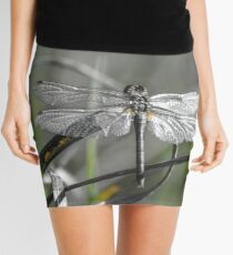 Dragonfly silver metal Mini Skirt
