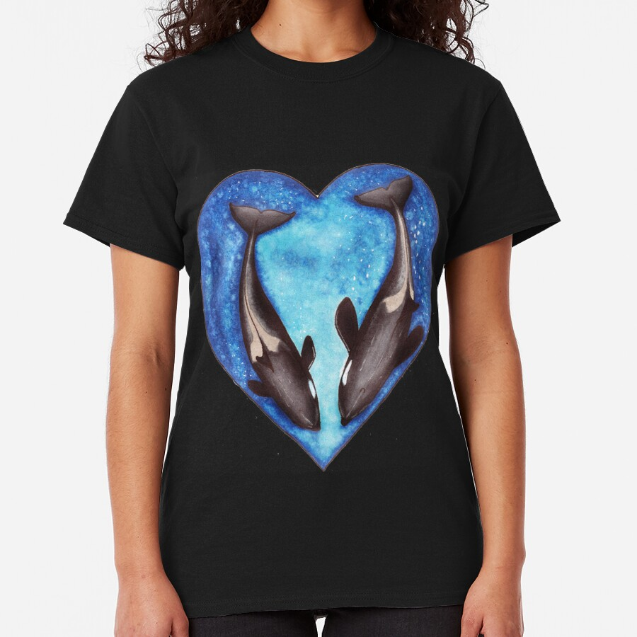 Valentine's Orca's  Classic T-Shirt