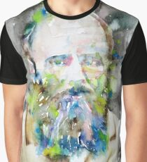 FYODOR DOSTOYEVSKY - watercolor portrait.6 Graphic T-Shirt