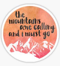 Pegatina montañas