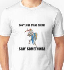 Knight Slay Something Cartoon T-Shirt