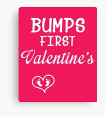 Bump's First Valentine 2 White Canvas Print