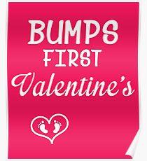 Bump's First Valentine 2 White Poster