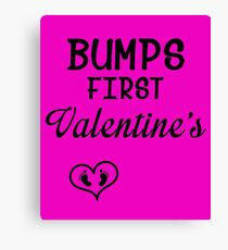 Bump's First Valentine 2 Canvas Print