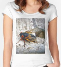 Red Eyed Cicada Women's Fitted Scoop T-Shirt