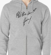 All the Love, H Zipped Hoodie