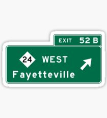 Fayetteville, NC Road Sign, USA Sticker