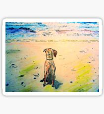 Maggie Goes To The Beach Sticker