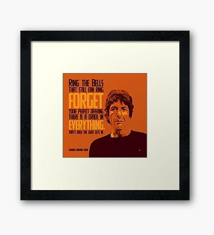 Leonard Norman Cohen Framed Print