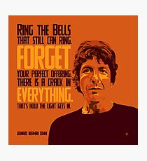 Leonard Norman Cohen Photographic Print