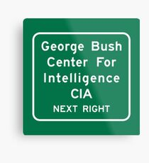 George Bush Center for Intelligence CIA, Road Sign, Langley, Virginia, USA Metal Print