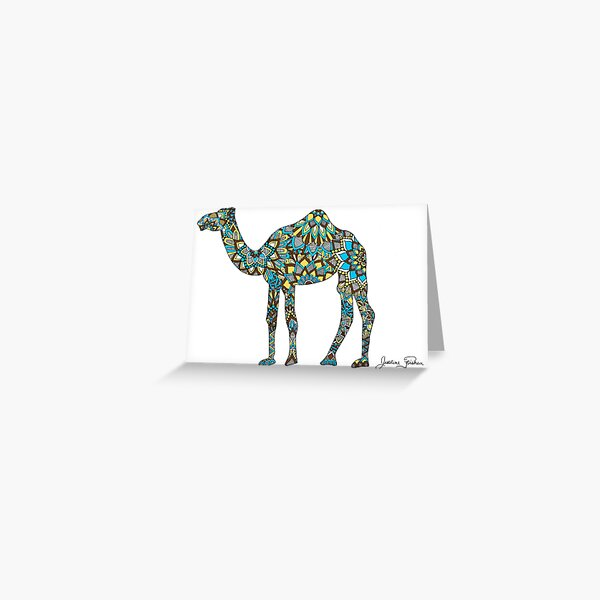 Camel Zentangle Silhouette Greeting Card