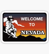 Welcome to Nevada, Road Sign, USA  Sticker