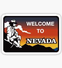 Pegatina Welcome to Nevada, Road Sign, USA