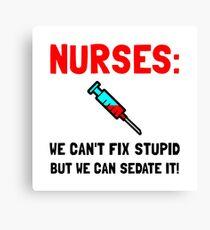 Nurses Sedated Canvas Print