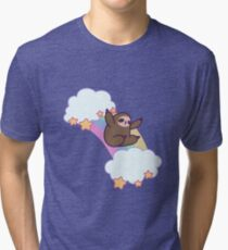Rainbow Cloud Sloth Tri-blend T-Shirt