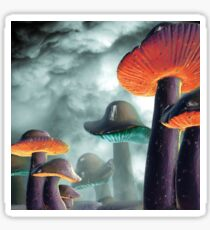 Space Mushrooms Sticker
